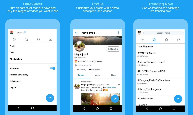 Twitter Lite en Colombia