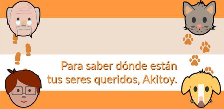 Te presentamos Akitoy: la app colombiana que te ayudará a rastrear a tus mascotas y seres queridos