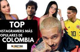 Instagramers más populares en Colombia