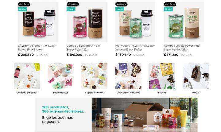 Tienda online mercado común catálogo