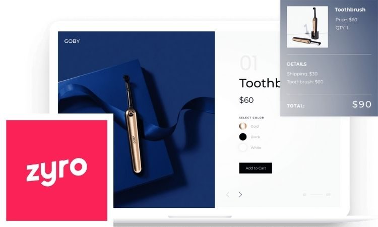 Creador de páginas web, diseño, marca, Zyro