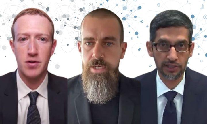 Los líderes de Facebook, Twitter y Google defienden su papel ante la desinformación y el extremismo en EE.UU.