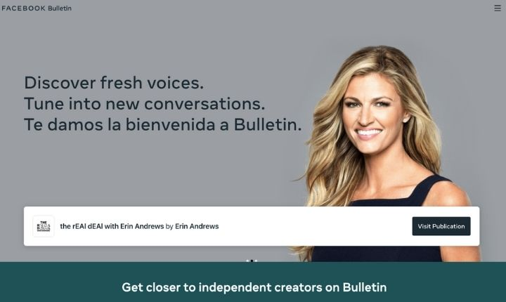 Así es Bulletin, la plataforma de creación y suscripción de newsletters de Facebook